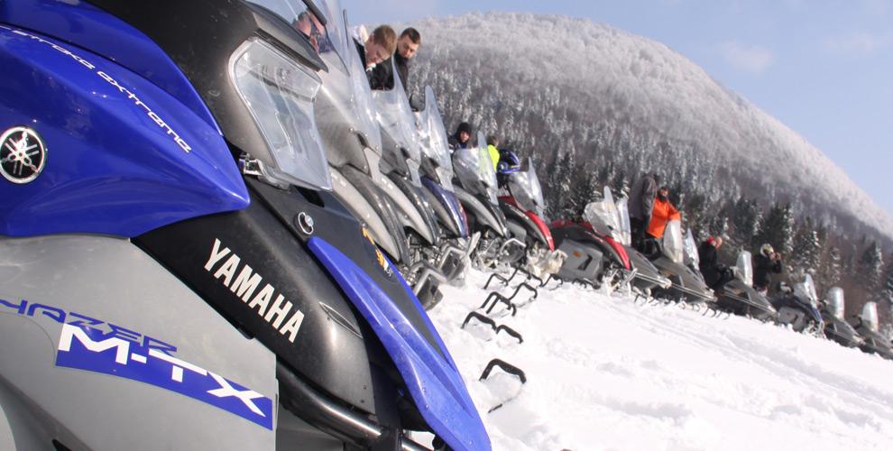 Skutery śnieżne wielkie jeziora mazurskie
